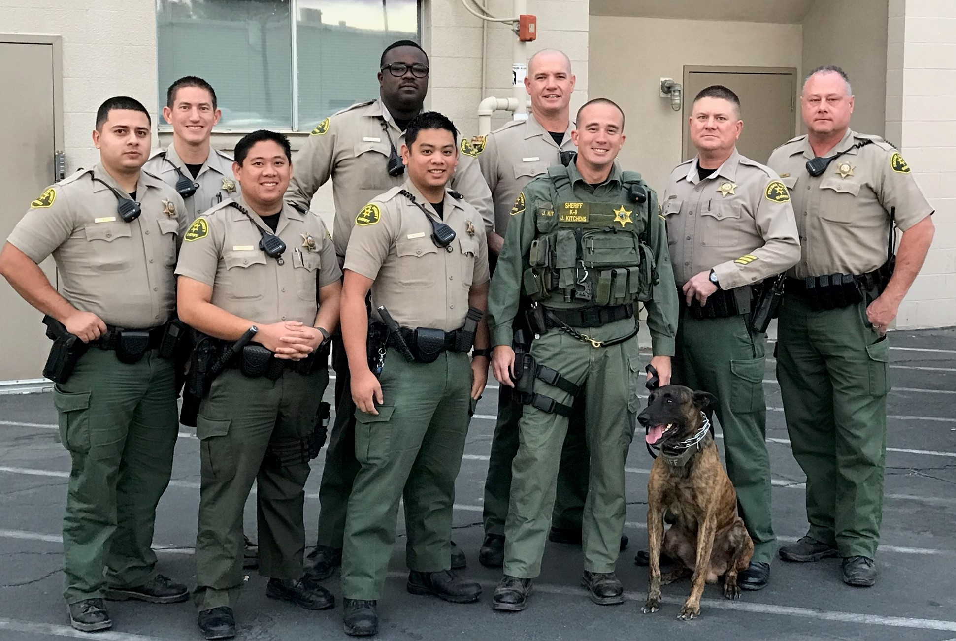 Sheriff Department with service dog